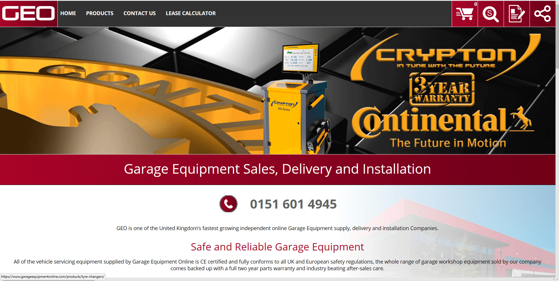 Garage Equipment Online Home