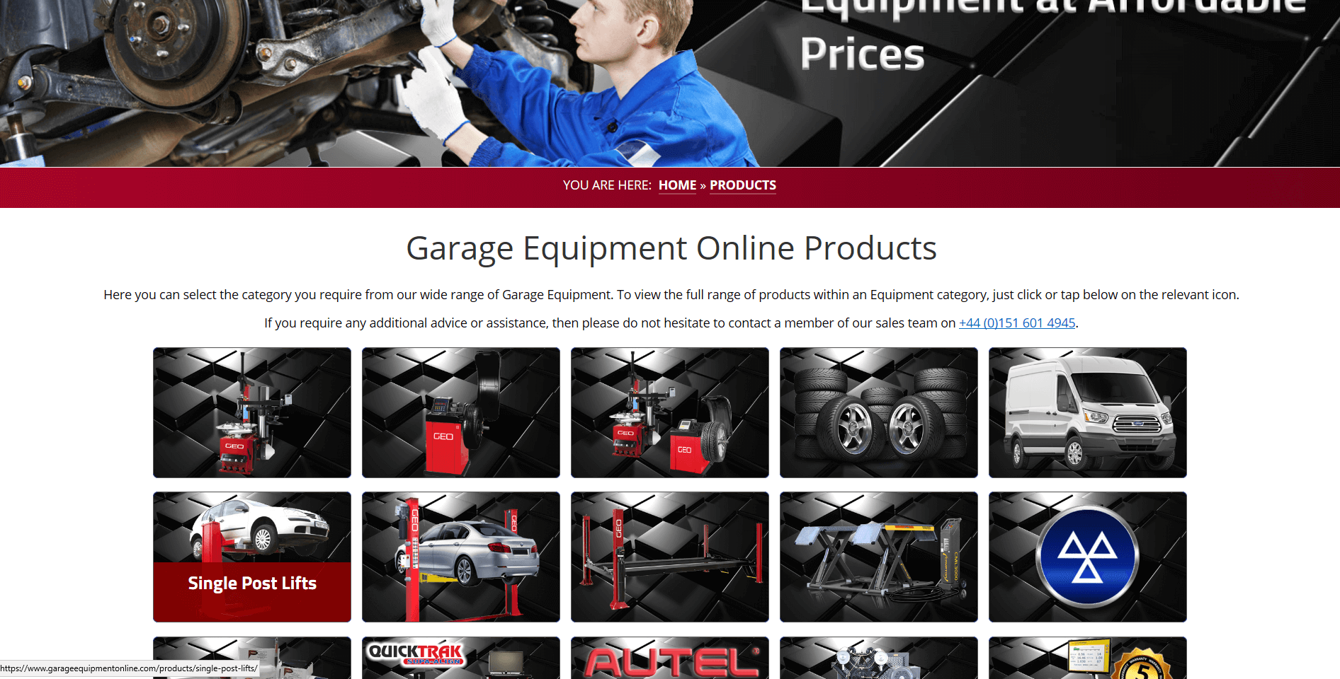 Garage Equipment Online Products